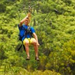 Stock Photo: Zipline