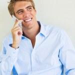 Man Talking on Smart Phone — Stock Photo #33253623