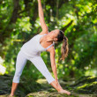 Woman Practacing Yoga in Nature — Stock Photo #33253869
