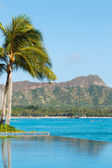 View of Diamond Head, Waikiki, — Stock Photo