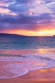 Amazing Tropical Beach Sunset, — Stock Photo