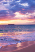 Amazing Tropical Beach Sunset, — Stock Photo
