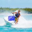 Man on Jet Ski — Stock Photo