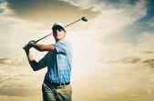 Golfa na zachodzie słońca — Zdjęcie stockowe