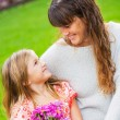 Portrait of happy mother and daughter — Stock Photo #37457567