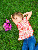 Cute happy little girl smiling — Stock Photo
