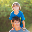 Happy father and son playing — Stock Photo
