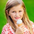 Girl with ice cream — Stock Photo