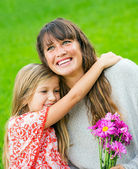 Mother and young daughter in the park — Stock Photo