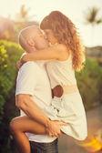 Mutlu bir çift aşık — Stok fotoğraf