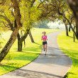 Woman running in the park — Stock Photo #40878531