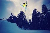 极端的滑雪者 — 图库照片