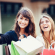 Women shopping at the mall — Stock Photo #41823849