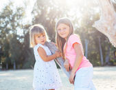 Adorable young sisters — Stock Photo