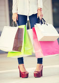 Woman shopping at the mall — Stock Photo