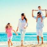 Happy Family on the Beach — Stock Photo #43397697