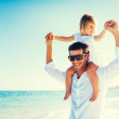 Father and Daughter at the Beach — Stock Photo #43397823
