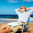 Business Man Relaxing at the Beach — Stock Photo #43700721