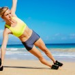 Woman Doing Kettle Bell Workout — Stock Photo #44316649