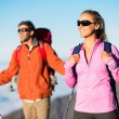 Hikers enjoying the view from the mountain top — Stock Photo #44843841