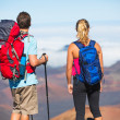 Hikers enjoying the view from the mountain top — Stock Photo #44845217