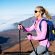 Hiker in the mountains — Stock Photo
