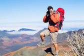 Nature Photographer taking Pictures — Stock Photo