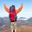 Hiker with backpack — Stock Photo #46242511