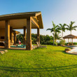 Home with large green lawn — Stock Photo #46242767