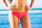 Woman with a beautiful bikini body — Stock Photo