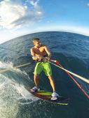 Kiteboarding POV Action Camera — Stock Photo