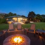 Luxury backyard fire pit — Stock Photo #50122525