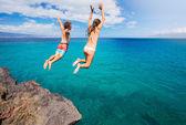 клифф прыжки — Стоковое фото