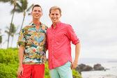 Happy gay couple — Stok fotoğraf
