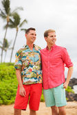 Happy gay couple — Stock Photo