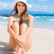 Portrait of young woman at the beach — Stock Photo #51480059