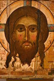 ICON OF CHRIST SAVIOR.ORIGINAL.18TH CENTURY. — Stock Photo