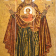 MOTHER OF GOD-GREAT PANAGIA.ORIGINAL.18TH CENTURY. — Stock Photo #22693989
