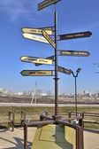 The pointer distance to famous cites in the world.Penza. — Stock Photo