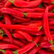 Red hot peppers - Stock Photo