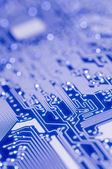 Blue and white Electronic board — Stock Photo