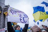 Euromaidan, 26 Kasım öğrenciler — Stok fotoğraf