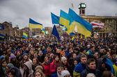 November 26 Students at EuroMaidan — Stock Photo