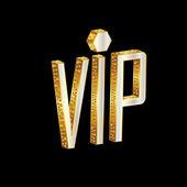 Letras de oro vip — Vector de stock