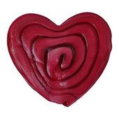 Caramel heart — Stock Vector
