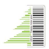 Green barcode — Stock Vector