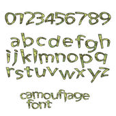 Camouflage font — Stock Vector