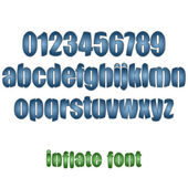 Inflate font — Stock Vector