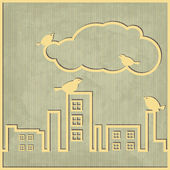 City cloud — Stock Vector