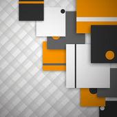 オレンジ色のファッション — ストックベクタ